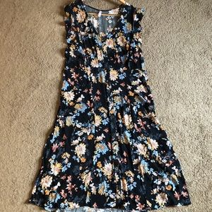 Xhiliration button down midi dress. NWOT